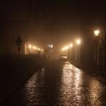 Am Nordbahnhof im Nebel