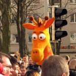 Giraffe im Karneval